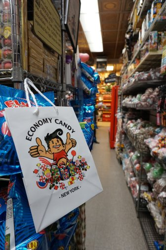 The candy assortment at Economy Candy will make you dizzt.