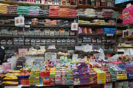 So much candy at Economy Candy.