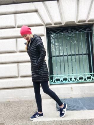 A warm but still stylish and cute puffy coat.