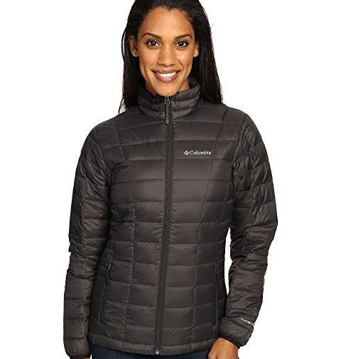 Columbia cute woman's puffy coat for travelers