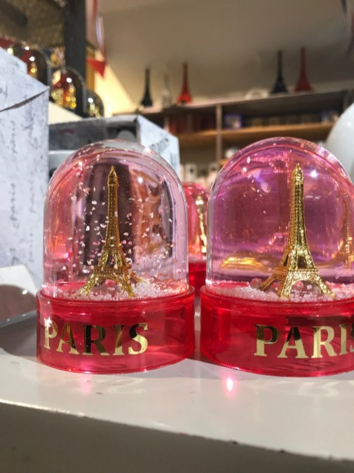 More overpriced and junky souvenirs to pass over from Parisian department store Galerie Lafayette.