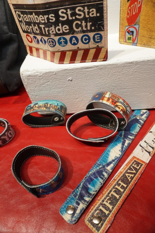 If a backpack is too over the top, these bracelets are a unique way to show your love for New York.