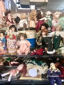 Piles of dolls.