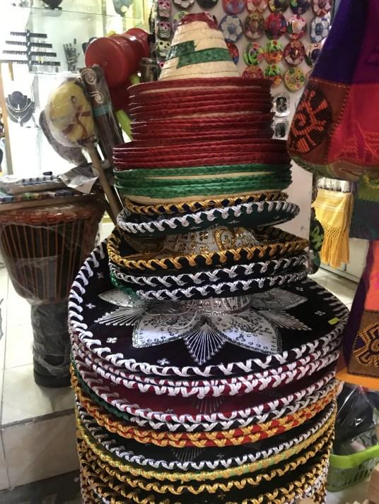Sombreros at La Cuidedela market in Mexico City photos
