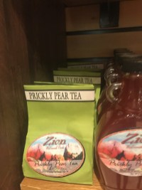 best shopping souvenirs Zion national park gift shop prickly pear tea