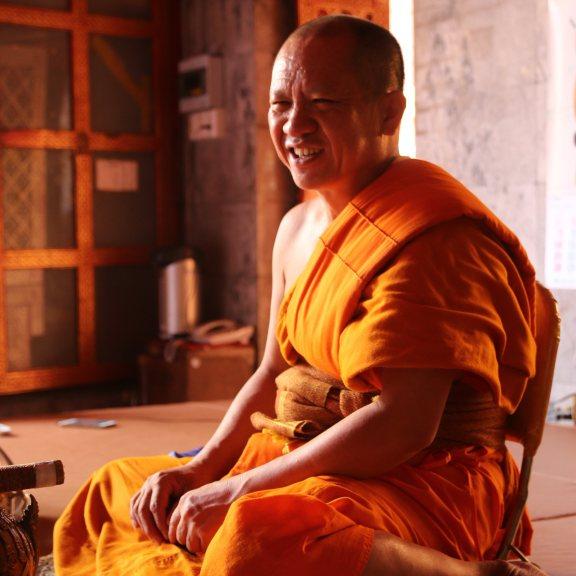 A Buddhist monk in northern Thailand