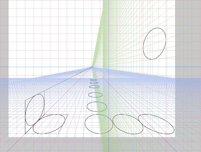 クリスタ 楕円 パース5