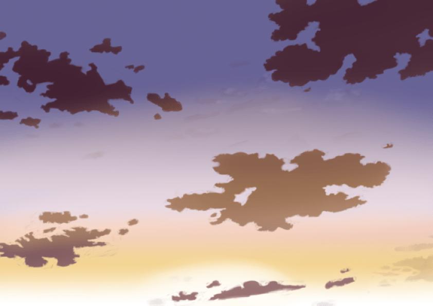 夕空の描き方、書き方10
