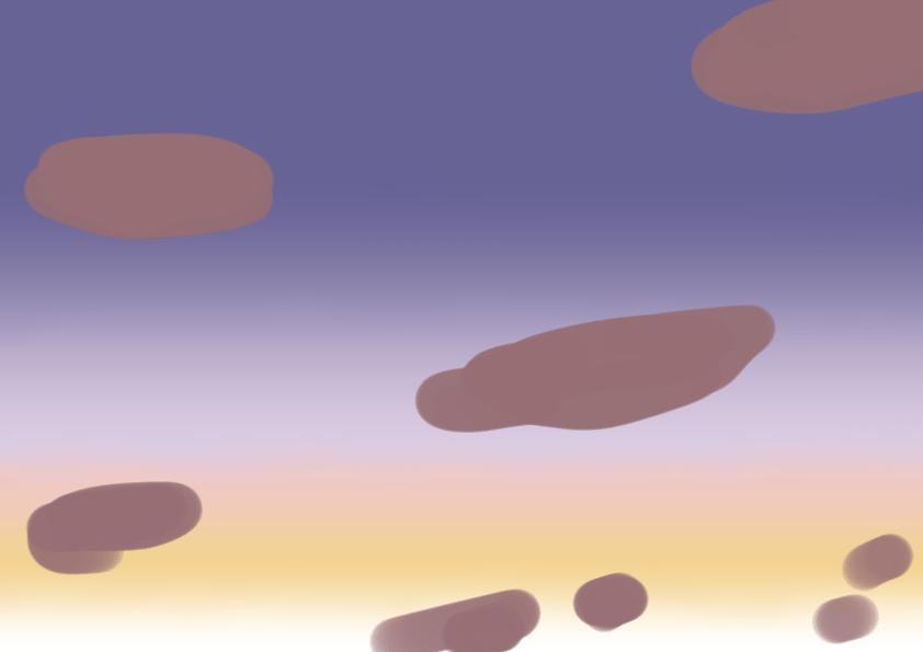 夕焼けの描き方2