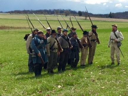 Confederate re-enactors