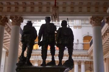 Statue of Castro, Guevara, and Camilo Cienfuegos