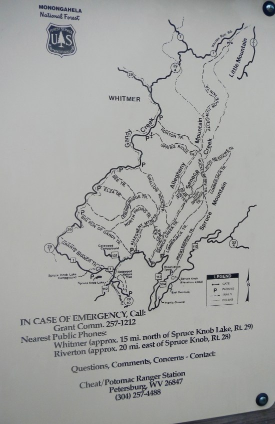 Map of area trails