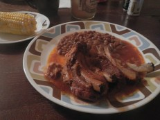 Ribs and beans
