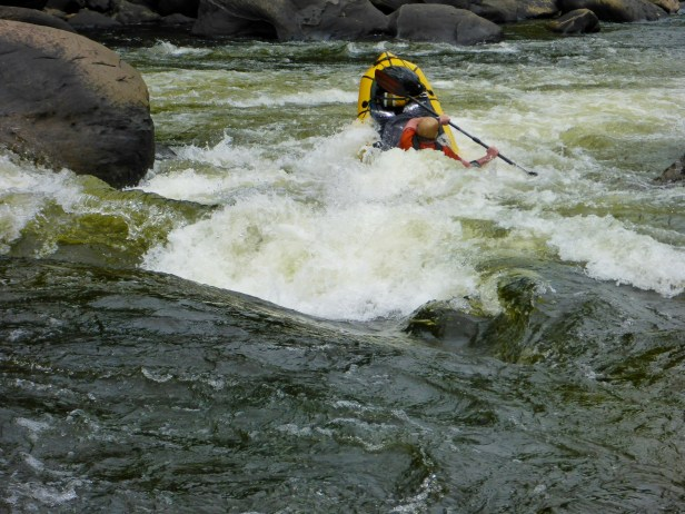 Backender coming out of Calamity Rock