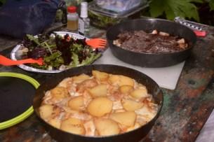 Potato a al savoyard, fully cooked