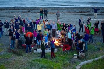 A wedding bonfire! (photo by Sally)