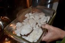 cod, ready for milk and flour