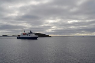 """The bigger and more modern ferry, named """"Veteran"""""""