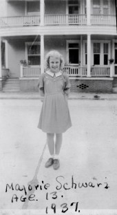 Margie, age 13, 1937