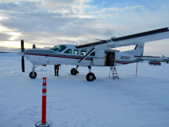 The mail plane out of Fairbanks