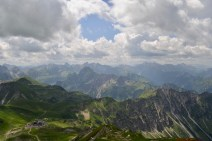 The view from the summit of the Nebelhorn (2224 meters)