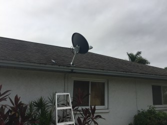 Last minute, had time to take off an old satellite dish