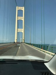 Mackinac Bridge, built in 1957, connects the U.P. to the rest of Michigan