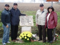 At the memorial with Carlo, Claudio, John, and Franca (the head of the local cultural association)