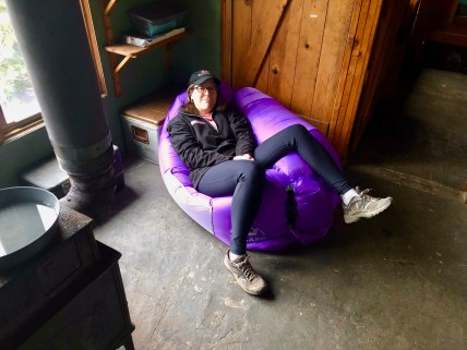 Souzz's Christmas gift was an inflatable chair (she got me an Apple watch, whoops).
