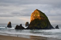 Cannon Beach, morning light on Haystack Rock, the gift that keeps giving