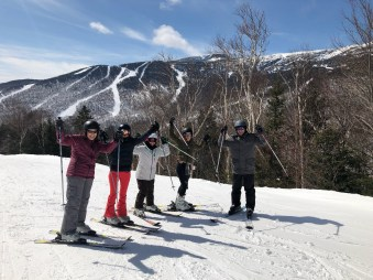 Souzz and her fellow ski school students
