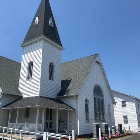 Swain Memorial Methodist Church, the focal point of the island (1899, on a site dating to 1842)