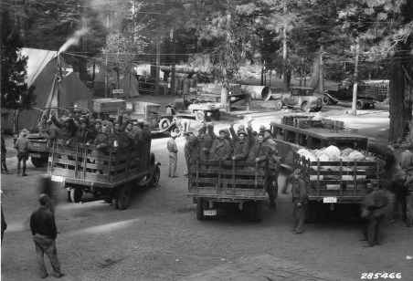 CCC boys leaving camp for home. Photo courtesy of Oregon State University, public domain