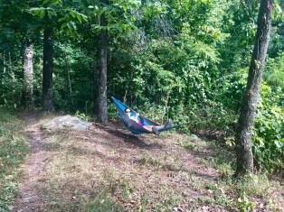 Souzz loving the hammock