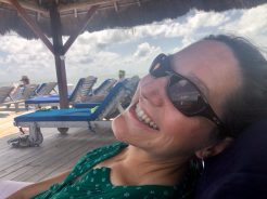 From the dock at Weezie's in Caye Caulker