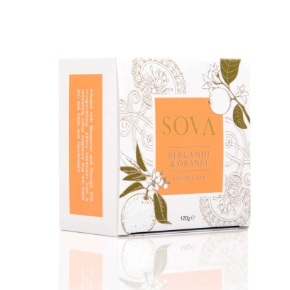 SOVA BERGAMOT & ORANGE BATHING BAR