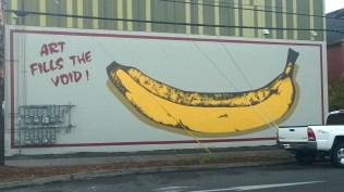 Art Fills the Void - the original PSAA mural, 1984