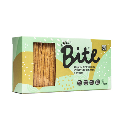 Хлебцы Кукурузно-рисовые с луком, хрустящие Bite