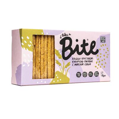 Хлебцы Кукурузно-рисовые с морской солью, хрустящие Bite
