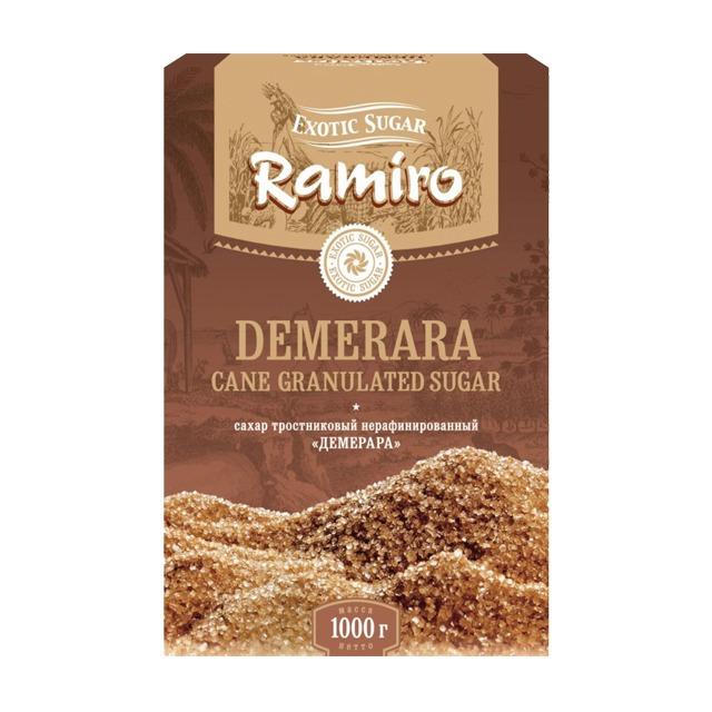 Демерара коричневый сахар песок тростниковый нерафинированный RAMIRO