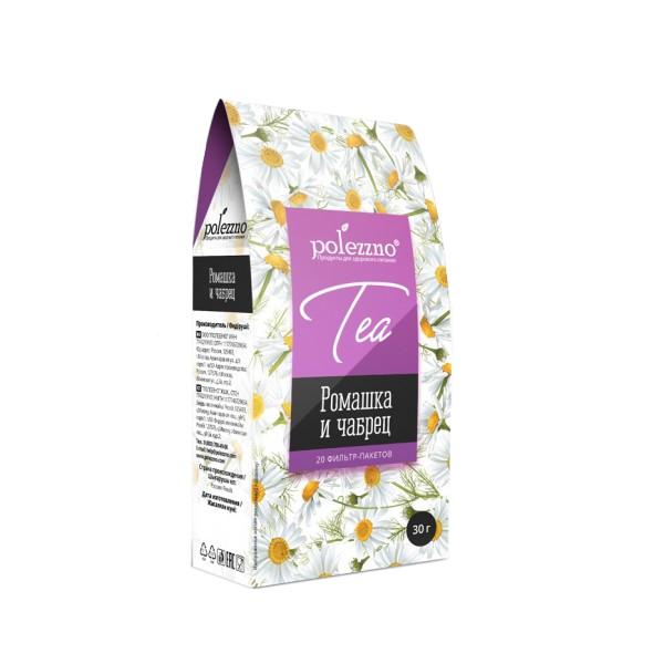 Чай ромашковый с чабрецом Polezzno