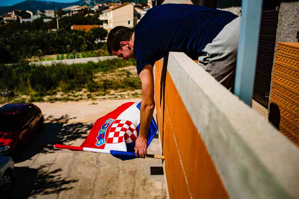 Wedding Photographer Croatia Flying The Flag