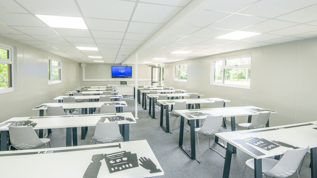 Resized Sovereign Buildings Photo - Inside of Classroom with social distancing - education building