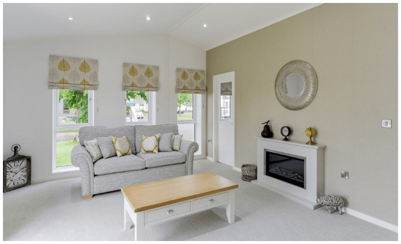 the sherborne - spacious, luxurious and contemporary accomodation - lounge area interior photo with fireplace and sofa