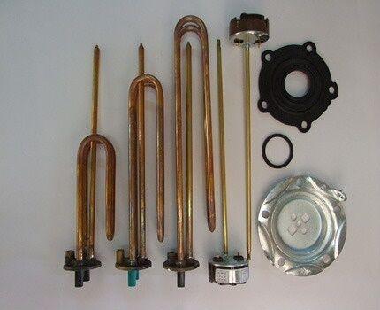 Verificação e substituição de peças de aquecedor de água
