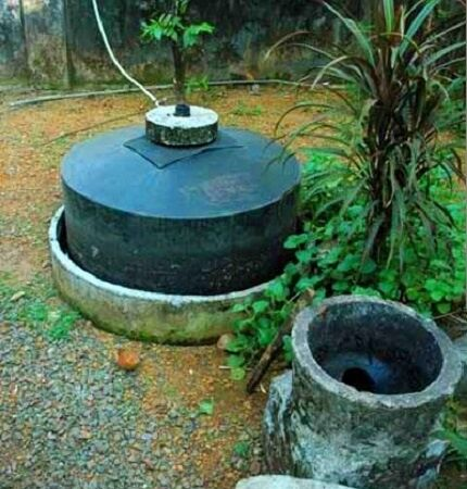 Indiai egyszerű biogáz