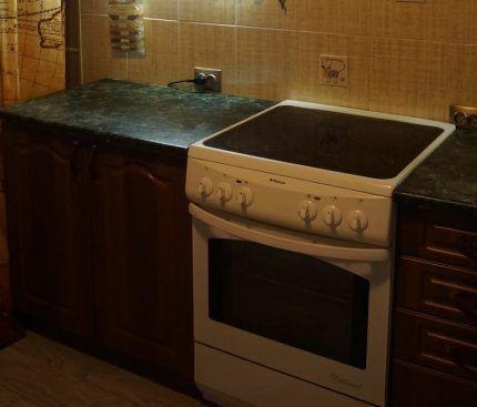 เตาไฟฟ้าในห้องครัวภายใน