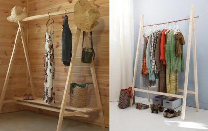 Вешалки с деревянной и с металлической штангой