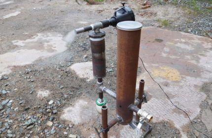 Kích thước của boongke của máy phát điện khói