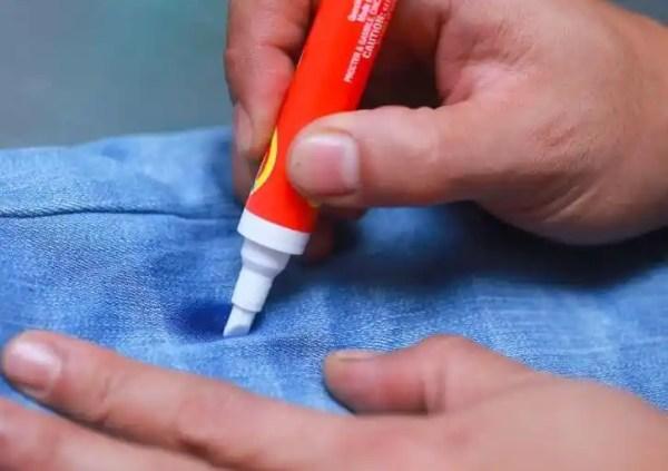 Как вывести пятно от чернил шариковой ручки с одежды